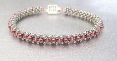 crystal and pearl bead bracelet beaded jewelry beadwork bracelet sterling silver