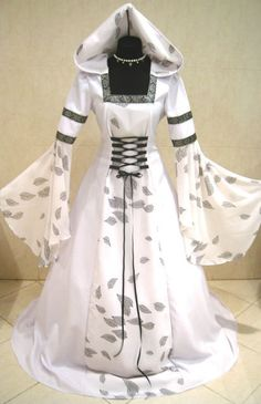 MEDIEVAL WEDDING DRESS XS-S-M-L-XL-2XL-3XL GOTHIC LARP WICCA NARNIA COSTUME ROBE #Custommade #Dress