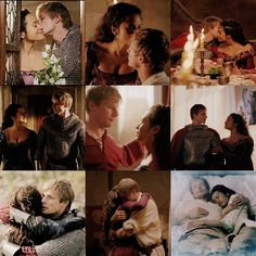 Arthur and Gwen. Their romance and love story is beautiful!!!!!