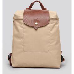 Longchamp Backpack - Le Pliage ($125) ❤ liked on Polyvore featuring bags, backpacks, longchamp backpack, nylon backpack, longchamp, longchamp bag and nylon bag