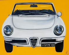 Alfa Romeo. Artwork 150x120 cm with original parts.