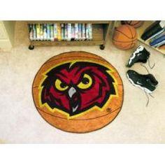 Fanmats Temple Owls Football-Shaped Mats
