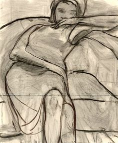 RICHARD DIEBENKORN Untitled (Woman on Sofa), 1966