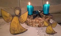 Tiffany andělé stojící na svíčku