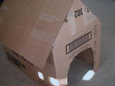 Como fazer uma casa de cachorro de papelão. How to Make a Cardboard Doghouse   eHow