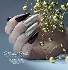 stylizacja paznokci - pomysł na bal karnawałowy, studniówkę <3 Nails Inspiration, Manicure, Bling, Earrings, Beauty, Jewelry, Acetone, Nail Bar, Ear Rings