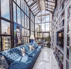 Make the most of high ceilings by installing a book wall. They are a great way to display your new favourite reads as well as making sure that a book is never out of reach!