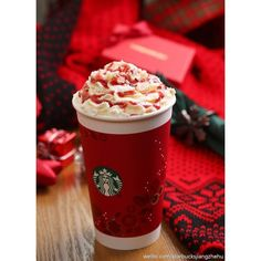 (2) Starbucks, christmas time, red, creamy, holidays, winter, harmony... ❤ liked on Polyvore featuring home, home decor, holiday decorations, christmas holiday decorations, holiday home decor, red home accessories and christmas holiday decor
