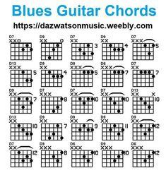blues chords for guitar Blues Guitar Chords, Guitar Chords And Scales, Acoustic Guitar Chords, Blues Guitar Lessons, Music Theory Guitar, Guitar Chords Beginner, Learn Guitar Chords, Easy Guitar Songs, Guitar Chords For Songs