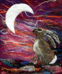 Moon Gazing Hare - Wilderness Felt