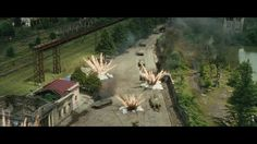 """Some shots with explosions, tank shots, destroying effects that I created for """"August 2008"""" russian movie in Main Road