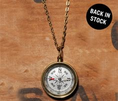 COMPASS NECKLACE by WE ARE ALL SMITH @Morgan Bogarr