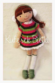 Kuferek Bietki: Suzana - lalka na szydełku/ Suzana, Gehäkelte Pupp...♡