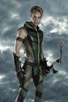JUSTIN HARTLEY!!! MUCH hotter/Better Green Arrow than the one on TV today.... I could watch him all day lol.
