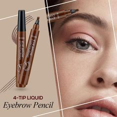 Natural Tattoo Eyebrow Pen FEATURES: Waterproof, Smudge-proof, Long-lasting Ink formula Super-saturated shades that will suit any eyebrow color of the women today using any kind of makeup on their eyebrows. Hair-like strokes with a soft matte Peel Off Eyebrow Tint, Eyebrow Tinting, Eyebrow Pencil, How To Color Eyebrows, Perfect Eyebrows, Eyebrow Makeup Tips, Eye Makeup, Makeup Eyebrows, Cakey Makeup