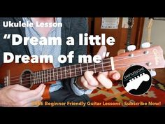 "Easy Ukulele Lesson - Dream a Little Dream of Me"" - Ella Fitzgerald, Mamas and the Papas, Doris Day Ukulele Songs Popular, Ukulele Songs Beginner, Guitar Songs, Music Chords, Ukulele Chords, Cool Ukulele, Ella Fitzgerald, Country Music Singers, Guitar For Beginners"