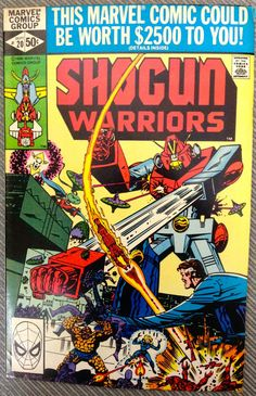 SHOGUN WARRIORS #20 SEPT 1980 BRONZE AGE BASED UPON TOYS VERY GOOD CONDITION