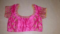 Jardoshi flower butti on florists pink blouse