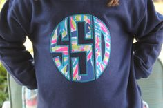 Toddler Girls Lilly Pulitzer Circle Monogram Navy Sweatshirt Pullover with Pockets sizes 2T 4T 5 6 by ImpactEmbroidery on Etsy