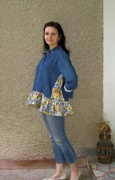 Eco Tunic Upcycled Clothing by EcoClo Size M by EcoClo on Etsy
