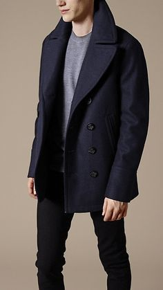 Burberry Wool Cashmere Pea Coat. I need a navy peacoat asap.