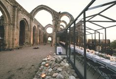 Cistercian Abbey and see-through tent as wedding venue in Segovia, Spain. Vogue Spain, Beautiful Hotels, Event Styling, Couple Pictures, Reception Decorations, Wedding Couples, Wedding Venues, Wedding Ideas, Dream Wedding