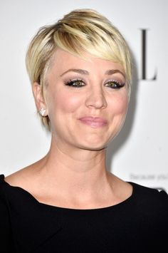 Kaley Cuoco pixie haircut