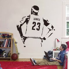 Find More Wall Stickers Information about 2016 New design NBA James Wall Sticker Vinyl DIY home decor Basketball Player Decals Sport Star for kids room free shipping,High Quality designer wall stickers,China wall sticker Suppliers, Cheap diy home decor from Big dream on Aliexpress.com