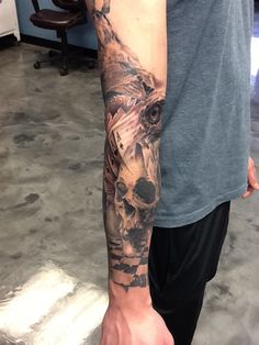 Skulls lions eagle eye and playing cards tattoo rose tattoo