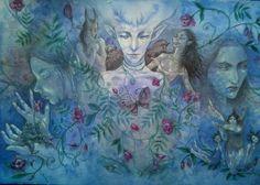 Vignes  aquarelle originale peinture par changelingscloset sur Etsy, kr2600.00