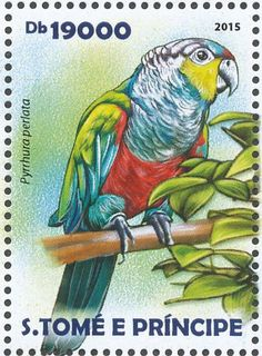 Crimson-bellied Parakeet stamps - mainly images - gallery format