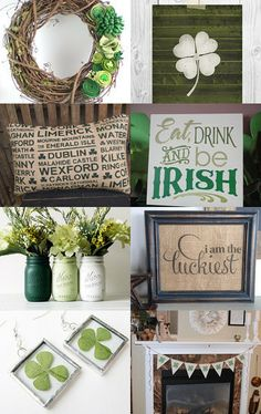 Rustic St. Patty's Day Inspiration by Mike and LZ Cathcart on Etsy--Pinned with TreasuryPin.com