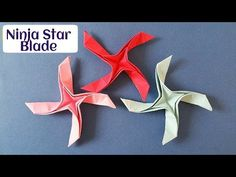 "Origami Paper ""Tiny Ninja Star Blade Shuriken "" - 4 pointed - Single square sheet. - YouTube"