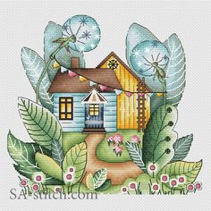 Волшебный летний домик   SA-stitch