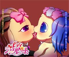 Topaz and Sapphie are lovely couples  Jewelpet Love