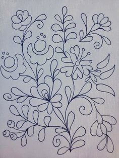 Embroidery Pattern from Rita Barton: Painted Hungarian Folk Art Flowers @ ritabarton.blogspot.com.ar, jwt