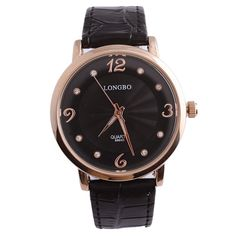 LONGBO+8864D+Crystal+Men's+Water+Resistant+Wrist+Watch+VJ32+Quarts+Movement