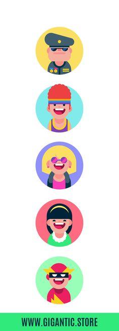 Flat Design Illustration, Simple Illustration, Character Illustration, Graphic Illustration, Illustrations, Manga Illustration, Character Flat Design, Simple Character, Flat Design Icons