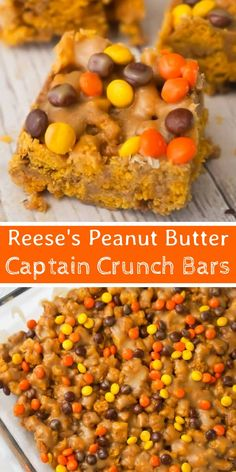 Reese& Peanut Butter Captain Crunch Bars are an easy dessert recipe perfect., Desserts, Reese& Peanut Butter Captain Crunch Bars are an easy dessert recipe perfect for peanut butter lovers. These peanut butter and marshmallow treats . Gourmet Recipes, Sweet Recipes, Cooking Recipes, Healthy Recipes, Cooking Cake, Kitchen Recipes, Easy Cooking, Healthy Desserts, Pasta Recipes