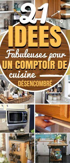La cuisine est le seul endroit de la maison où toute la famille peut être réunie pour cuisiner. C'est donc tout à fait naturel que beaucoup de choses s'y accumulent.  Mais que diriez-vous d'avoir une cuisine sans encombrement ? Cela nécessite un peu de travail, mais ça change la vie ! Sur le comptoir de la cuisine, on peut trouver des piles de papiers, des livres, des ustensiles de cuisine, des petits appareils électroménagers … #rangement #organisation #cuisine #astuces Kitchen Pantry, Kitchen Appliances, Home Staging, Home Organization, Home Crafts, Home Kitchens, Small Spaces, Sweet Home, New Homes