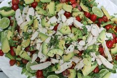 Chicken & Roasted Chick Pea Summer Salad