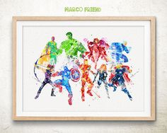 Avengers Age of Ultron - Watercolor, Art Print, Home Wall decor, Watercolor Print, Superhero Poster
