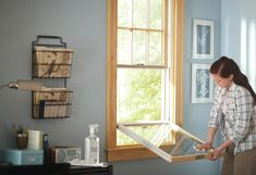 Window glass can crack over time or from the elements. This guide from The Home Depot will teach you how to replace window glass in just a few steps. Window Replacement, Home Improvement, Windows, Canning, Home Canning, Home Improvements, Ramen, Conservation, Interior Design