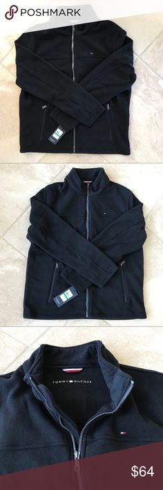 Tommy Hilfiger men's polar fleece jacket New with tag zip front two front zipper pockets very soft stand collar Tommy Hilfiger Jackets & Coats