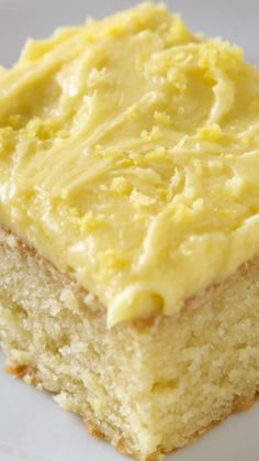 Quick Lemon-Iced Yellow Cake ~ It's incredible... You won't believe something this good can be this quick and easy.