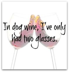 In dog wine, I've only had two glasses of #wine.