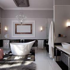 mosaik badezimmer zartrosa silberne rosen wand weiße badmöbel ... | {Luxus badezimmer modern schwarz 11}