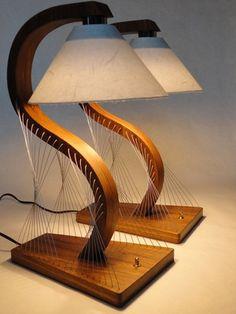 Çelik Tel ve Odun İle Yaratılmış Mobilyalar - Amerikalı sanatçı ve tasarımcı Robby Cuthbert'in, vida ya da tutkal kullanmadan, çelik tel ile mobilya parçalarını tutturarak oluşturduğu evinizde kullanabileceğiniz bazı tasarımları;