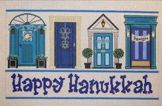 Meredith Collection Hanukkah doors needlepoint canvas