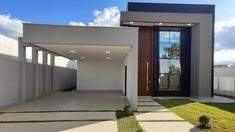 Modern Bungalow House Design, Single Floor House Design, Modern Small House Design, House Outside Design, Duplex House Plans, Dream House Interior, House Entrance, Facade Design, Facade House